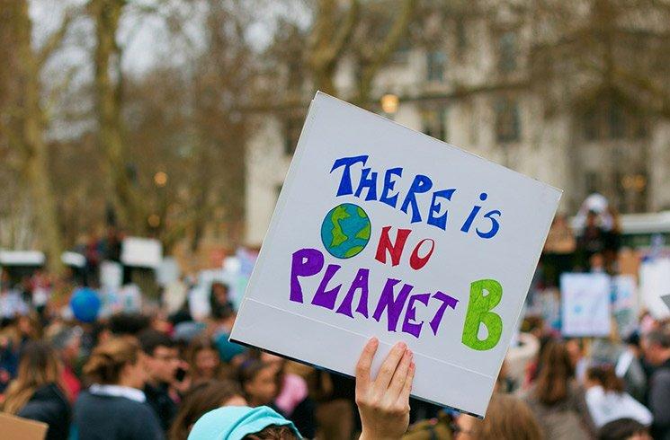 Manifestation sur l'urgence climatique à Londres